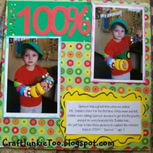 100% All Boy Scrapbook Layout