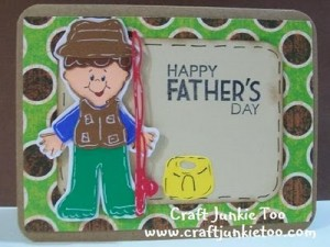 Fisherman Father's Day Card and Video Tutorial