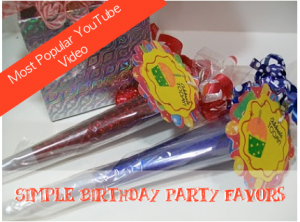 Simple Birthday Party Favors