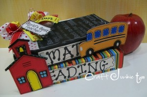 Faux School Books using Recycled Cricut Cartridge Boxes