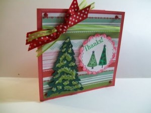 Video #66 ~ Thanks Christmas Note Card