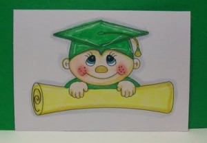 Coloring with Copics ~ Graduation Image