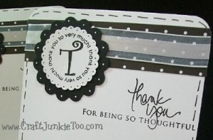 Simple Monogrammed Cards & Video #102