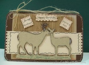 ♥ You're a Deer Birthday Card (for my hubby)♥