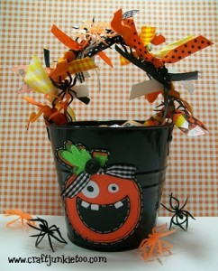 Halloween Tin Bucket Treat & Video #121