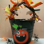 halloween tin bucket