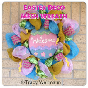 Easter Deco Mesh Wreath with Video Tutorial