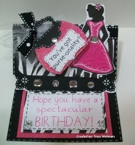 Girlie Easel Birthday Card using Forever Young