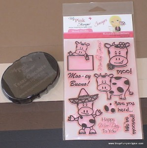 July Pink-alicious Blog Hop featuring Moo-ey Doodles by My Pink Stamper
