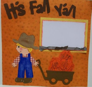 Video #51 ~ Pumpkins for Sale Scrapbook 2-page Lay-Out
