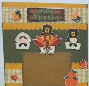 Give Thanks Scrapbook Page