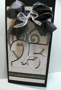 ~ Video #68 ~ 25th Wedding Anniversary Card