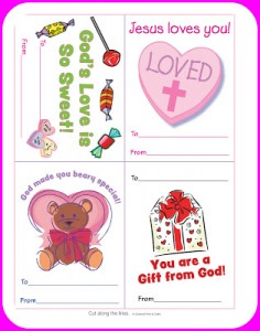 Christian Valentines with Free Printables