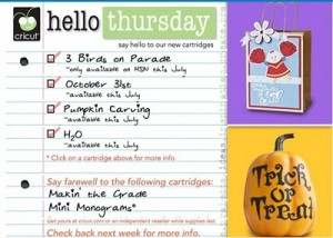 Hello Thursday and Cricut Lite Jack Pot!