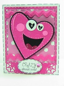 *Crazy about You* Valentine Card featuring Smiley Cards — #145