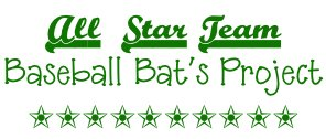 All Star Team Baseball Bats {Project}