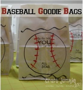T-Ball Baseball Goodie Bags