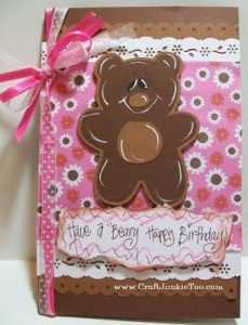 "Video #29 – Have a ""Beary"" Happy Birthday – Card"