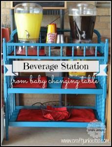 {Beverage Station} From A Baby Changing Table