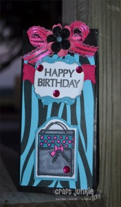 Black Zebra Birthday Bag & Cupcake Card