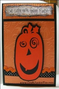 """Cheer Up Someone"" Pumpkin Card & Video #30"