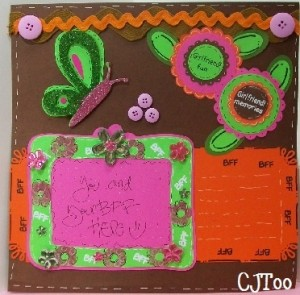 ♥ MPS Color Challenge, Video 106 – BFF Scrap Page & Give-Away Chance to Win! ♥