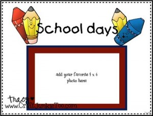 CJToo Digital Designs – School Days Scrapbook Page