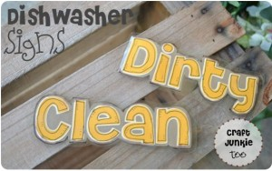 Clean or Dirty Dishwasher Signs