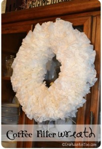 {Coffee Filter Wreath} Tutorial