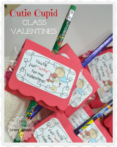 Pencil Valentines with [Cutie Cupid Tag] Free Printable