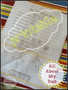{All About My Dad} Father's Day + Printable