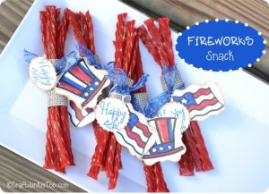 "{Fireworks Snack} featuring ""Yankee Doodles"" from My Pink Stamper"