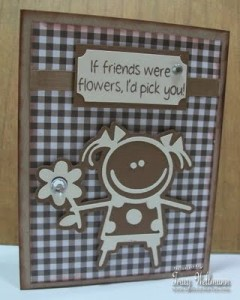 Friendship Card using Car Decals