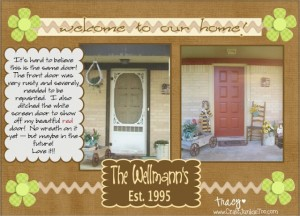 {My Front Door} Digital Scrapbook Page