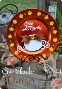 {Give Thanks Charger} Home Decor