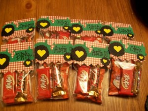 Valentine Tractor Goodie Bags