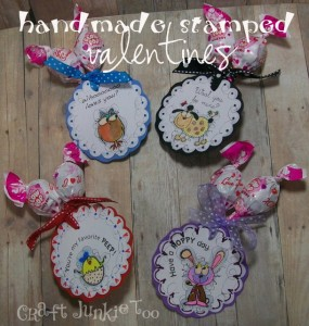 {Handmade} Stamped Valentines