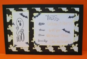 Quick and Simple Halloween Invitation & Video #48