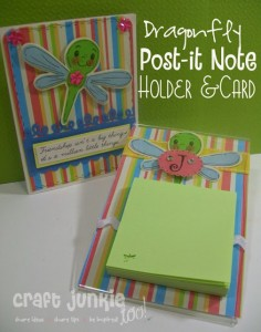 {Dragonfly} Post-It Note Holder & Card