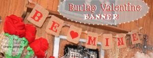 {Burlap} Valentine Banner