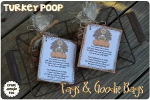 {Turkey Poop} Tags & Goodie Bags with Free Printable