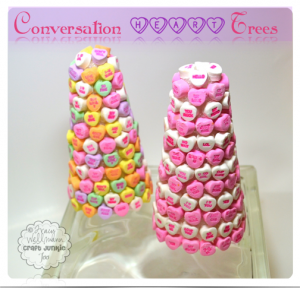 {Conversation Heart Trees} ~ Decorating with Candy!