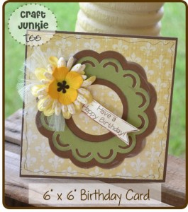 {Birthday Card} using Cricut Essentials