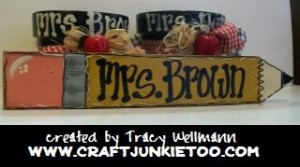 Teacher Wreaths & Other Hand Painted Items