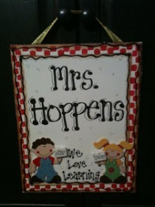 Personalized Teachers Gift {Canvas Board}
