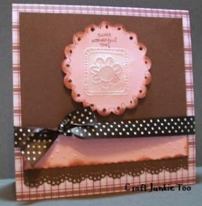 Video #22 ~ Simply Wonderful Pink & Brown Card