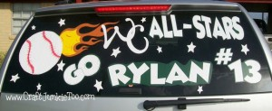 Decorating Car with Vinyl for All Stars!
