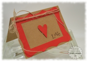 Simple Red and Kraft Valentine Card
