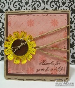 Sunflower Friendship Card