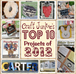 {Top 10 of 2012} at Craft Junkie Too